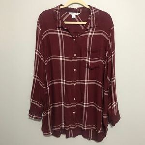 Old Navy Classic Fit Flannel Plaid Tee
